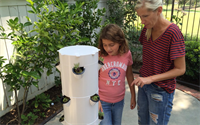 Dr Rockey Makes House Call to Build a Tower Garden