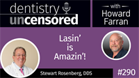 290 Lasin' is Amazin'! with Stewart Rosenberg : Dentistry Uncensored with Howard Farran