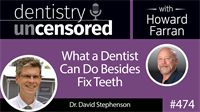 474 What a Dentist Can Do Besides Fix Teeth with David Stephenson : Dentistry Uncensored with Howard Farran