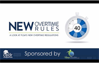 Learn about the new overtime rules taking effect 12/1/16 (40 minute class)