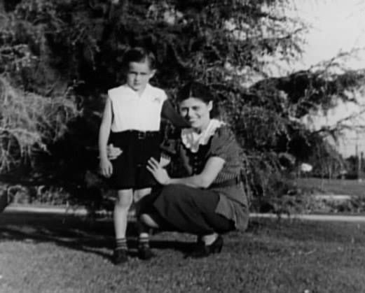 James and mother Mildred Dean