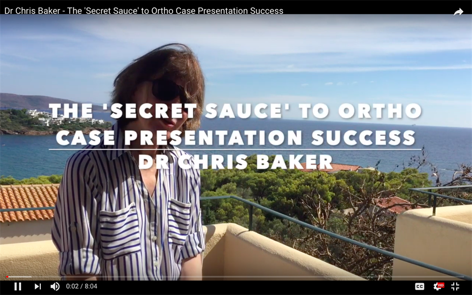The 'Secret Sauce' to Ortho Case Presentation Success