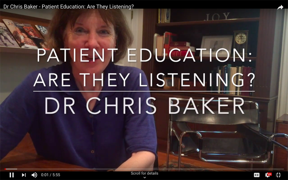 Patient Education: Are They Listening?