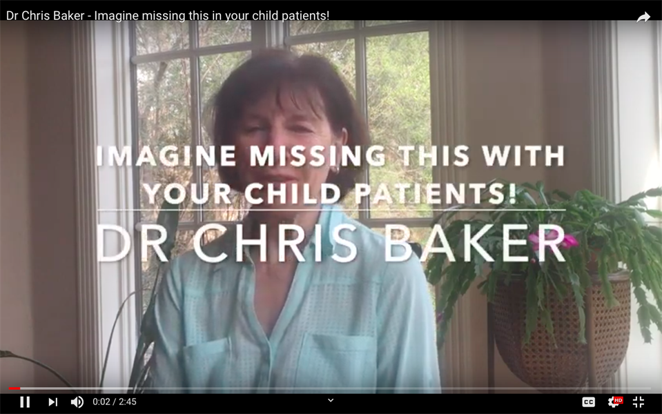 Imagine missing this with your child patients!