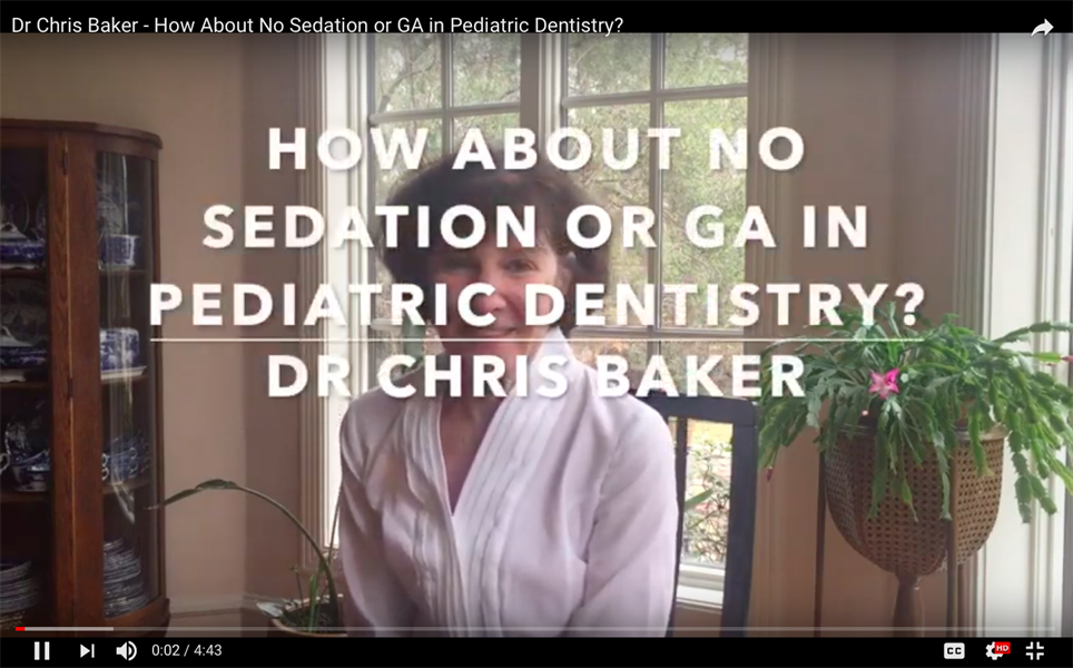 How About No Sedation or G.A. in Pediatric Dentistry?