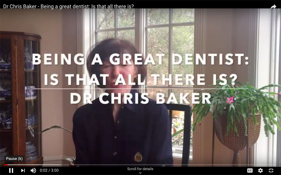 Being a Great Dentist: Is That All There Is?