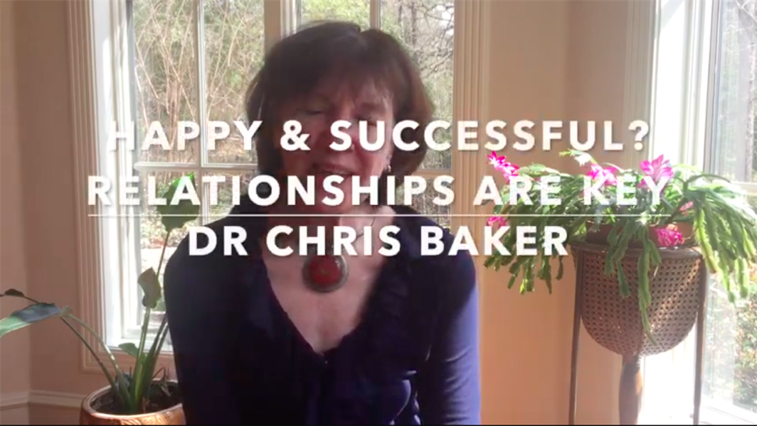 Happy and Successful, Doctor?  Relationships are the Key.