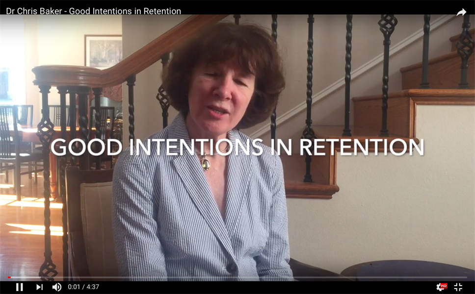 Good Intentions in Retention