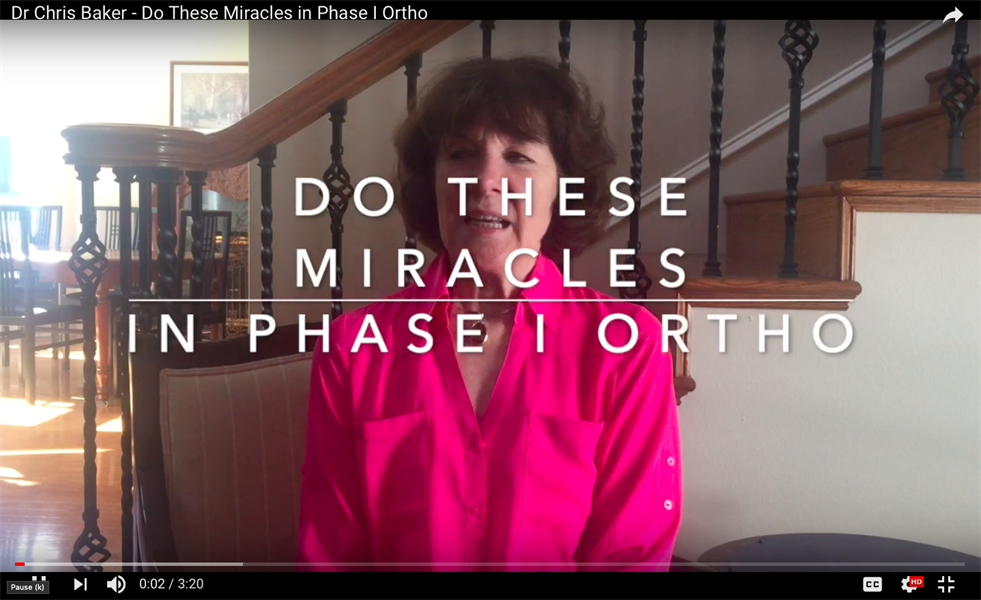 Do These Miracles in Phase I Ortho (You do not need to wait for all the adult teeth to come in)