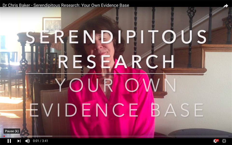 Serendipitous Research: Your Own Evidence Base
