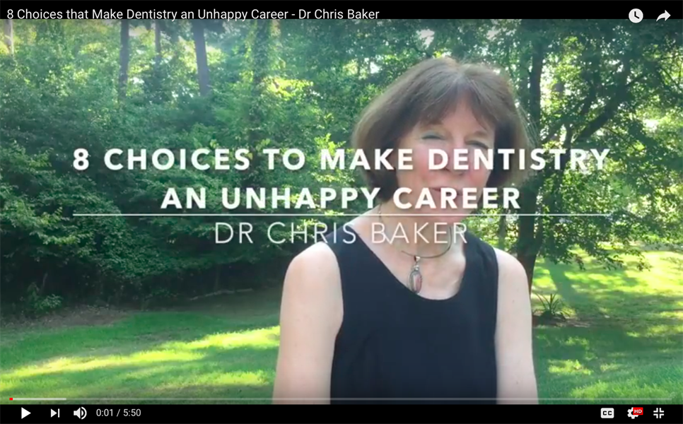 8 Choices that Make Dentistry an Unhappy Career