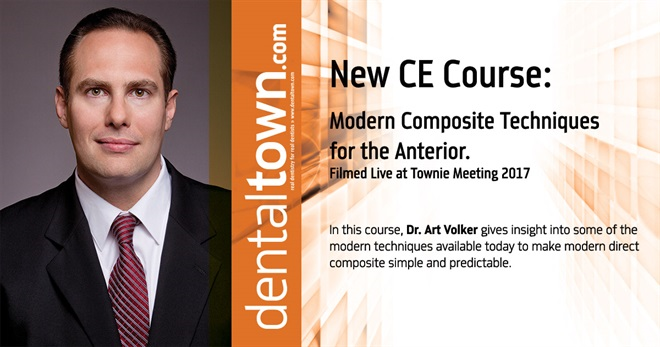 Dentaltown Learning Online....Modern Composite Techniques for the Anterior... Filmed Live at Townie Meeting. By Dr. Art Volker.