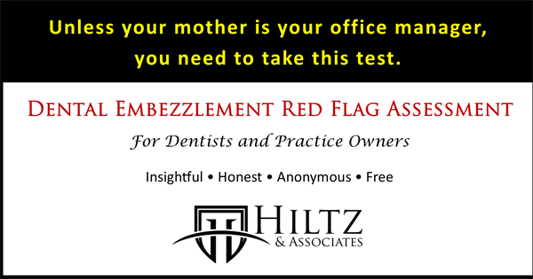 Dental Embezzlement Red Flag Assesssment