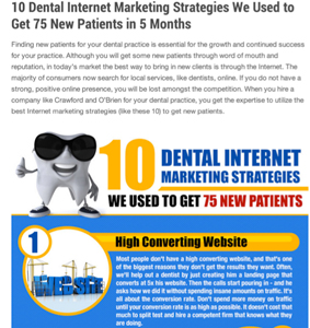 5 Dental Practice Online Marketing Strategies to Get More Patients On Your Site