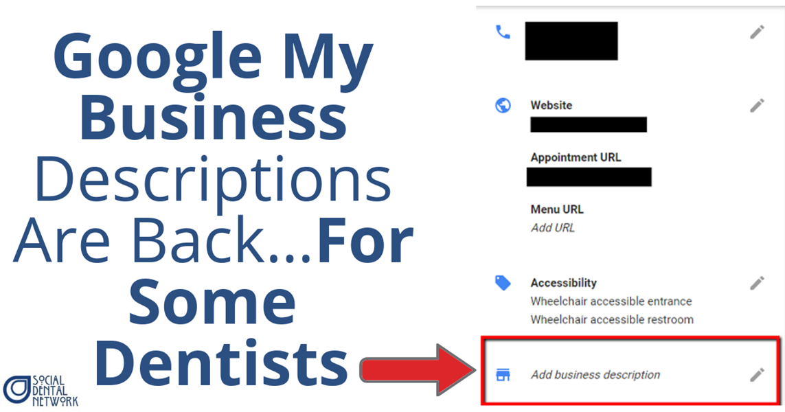 Google My Business Descriptions Are Back…For Some Dentists