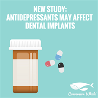 New study: antidepressants may cause dental implant failure