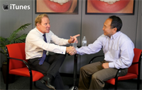 Dr. Hornbrook and Garrett Sato bite into Danville Dental Materials.