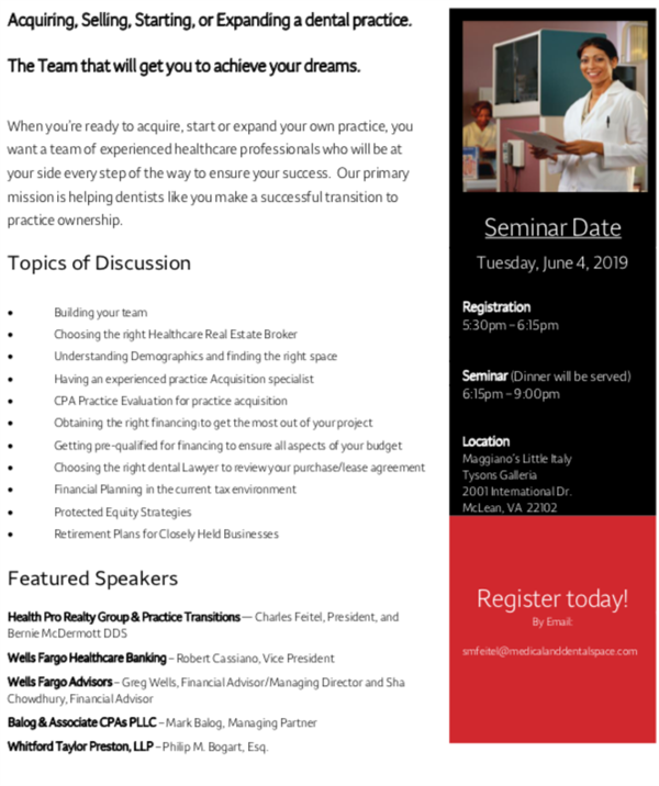Dental Seminar on June 4th
