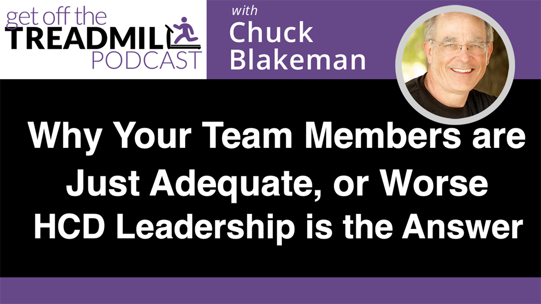 Why Your Team Members are Just Adequate, or Worse - HCD Leadership is the Answer