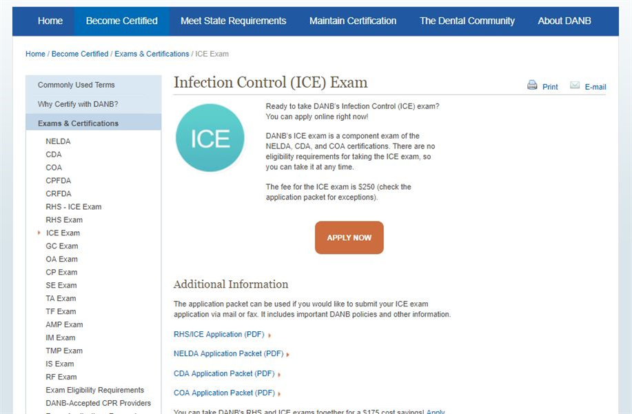 How To Register And Prepare For The DANB's ICE® Exam