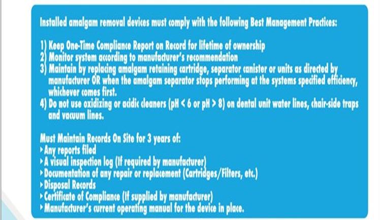 Reviewing M.A.R.S' EPA Regulation Flowchart – Compliant Amalgam Separators