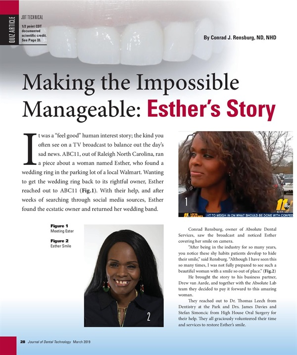 Making the Impossible Manageable - Esther's story
