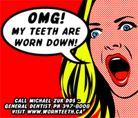 Quickie Braces Outlawed - First Newspaper Ad for 'Worn Teeth'