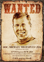 Fun 'Wanted' Poster advertisement