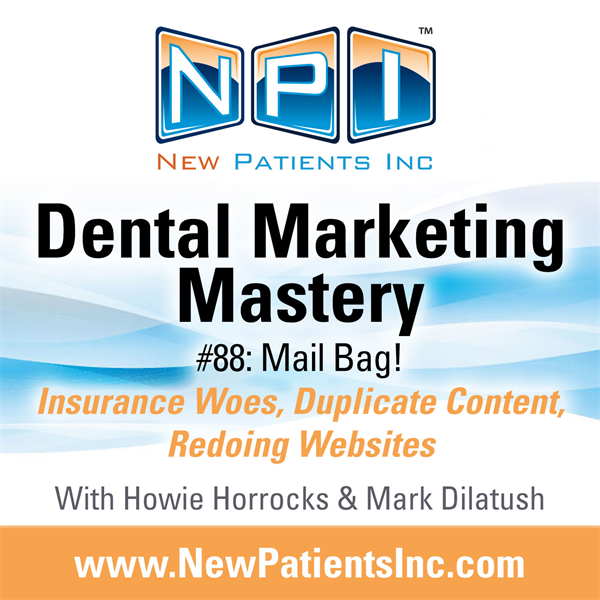 #88: Mail Bag! Insurance Woes, Duplicate Content, Redoing Websites