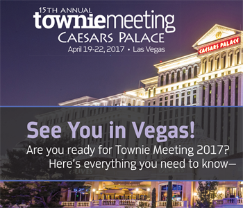 Townie Meeting 2017 Preview A sneak peek at what's on the docket for the 15th annual Townie Meeting in Las Vegas: Meet the speakers, check out the event lineup, and more.