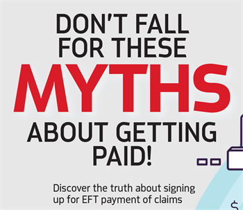 Don't Fall for These Myths  About Getting Paid! by Priscilla Holland Priscilla Holland, senior director of the National ACH Association, refutes four myths about electronic payments—from enrollment to security.
