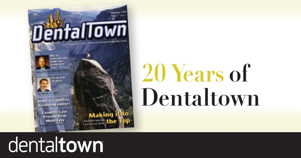 20 Years of Dentaltown March 2019 marks the 20th anniversary of Dentaltown! We look back at the community's development over the past two decades, with a spotlight on some of our Townies' favorite moments.