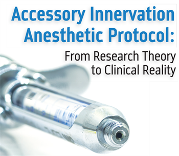 Continuing Education: Accessory Innervation Anesthetic Protocol  From research theory to clinical reality, Dr. Daniel Uzbelger Feldman discusses an accessory innervation anesthetic protocol for profound pulpal anesthesia of the adult posterior mandible.