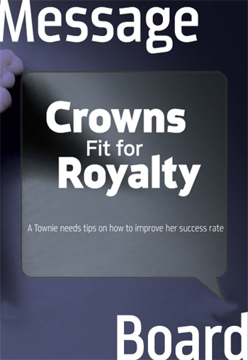 Help! None of My Crowns Are Fitting! So. Many. Remakes. A dentist's efforts at seating crowns are failing too often for her liking. Can her fellow Townies identify the cause(s)?