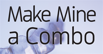 Make Mine a Combo For some adult patients, Dr. Blair Feldman uses a combination treatment of braces on the lower teeth with Invisalign on the upper teeth, followed by full Invisalign treatment for the remainder of the time.