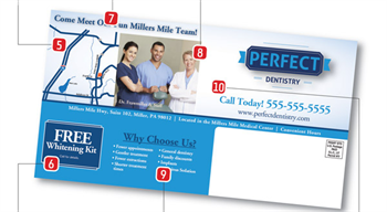 10 Strategic Insights for Patient-Producing Postcards Ever thought of marketing your practice by mailing postcards? DentalMarketing.net shares its best tips to create an effective and eye-catching postcard.