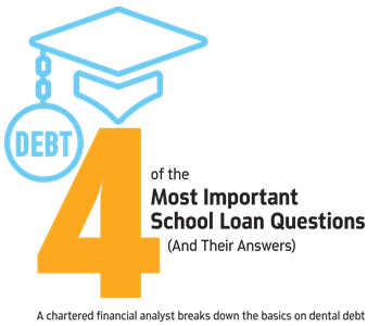 4 of the Most Important Student Loan Questions  (and Their Answers) Payment plans? Refinancing? Chartered financial analyst Travis Hornsby, founder of Student Loan Planner, answers the top four questions from dental students about how to handle their loan debts.