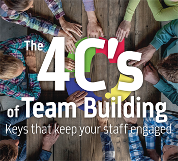 The 4 C's of Team Building Practice management expert Bonnie Pugh shares how the four C's of team building—clarify, calculate, communicate and coach—will keep your staff engaged and lead to a successful practice.