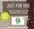 Starbucks Gift Card for a Few Minutes