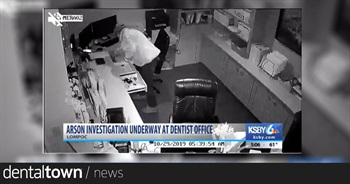 Man caught on surveillance video setting Lompoc dentist office on fire