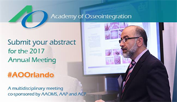 AO Announces Call for Abstracts for 2017 Multidisciplinary Annual Meeting