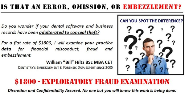 Dental Practice Exploratory Fraud Examination
