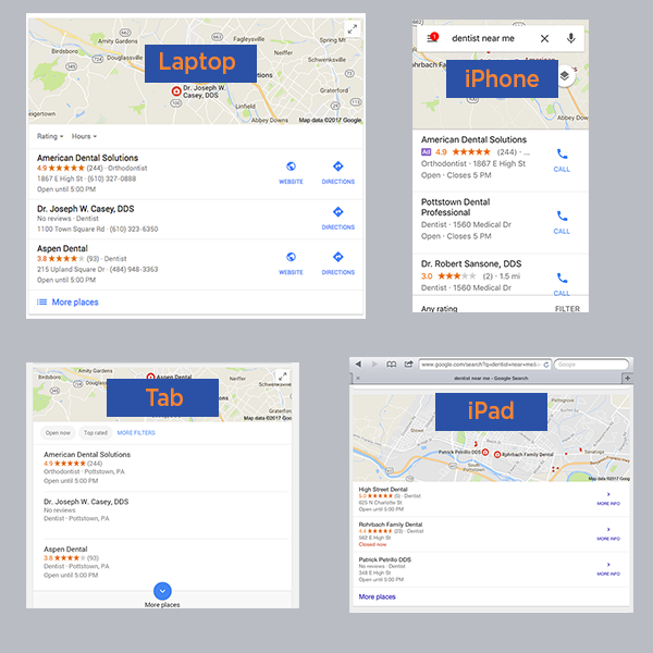 local search results by device