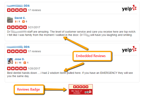 Yelp Review Badges for Dentists 2