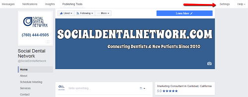 Facebook Verification for Dentists
