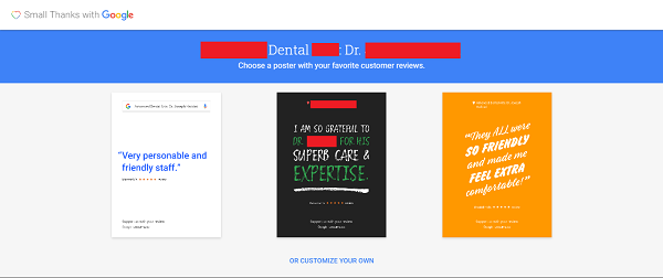 Dentists Say Thank You for Google Reviews 2